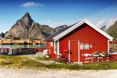 Скандинавия, замечательный нордический ландшафт, Lofoten стоковая фотография rf
