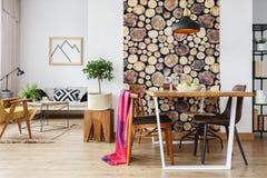 Скандинавская квартира с дизайном зимы Стоковая Фотография RF