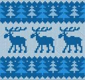 Скандинавским картина связанная стилем с оленями стоковое изображение