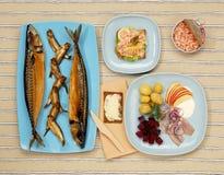 скандинав рыб шведского стола Стоковая Фотография