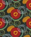 Скандинав флористического дизайна вектора картины красного фона маков безшовный примитивный бесплатная иллюстрация