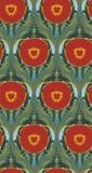 Скандинав флористического дизайна вектора картины красного фона маков безшовный примитивный иллюстрация вектора