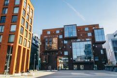 Скандинавская архитектура квартала Rotermann в Таллине Стоковое Изображение