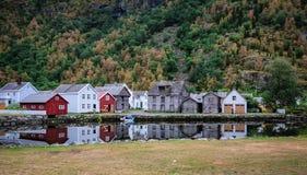 Скандинавская деревня Стоковые Фото