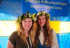 Скандинавский фестиваль 2015 середины лета Стоковые Фото