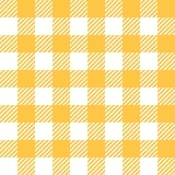 Скатерть в желтом цвете с Checkered дизайном Стоковые Изображения