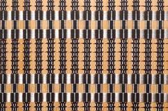 Bamboo ткань как естественная предпосылка Стоковая Фотография RF
