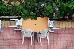 скатерть таблицы блинчиков обеда икры Стоковые Изображения RF