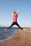Скача дама Стоковая Фотография