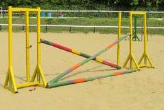Скача барьер для скачек Стоковые Фотографии RF