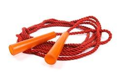 Скача веревочка на белизне Стоковое фото RF