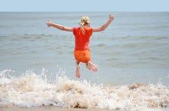 Скача вода Стоковая Фотография