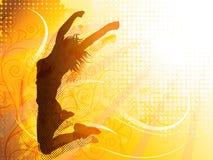 Скача девушка Стоковое Изображение RF