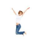 скача детеныши женщины Стоковое фото RF