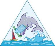 Скача дельфин Стоковое Изображение