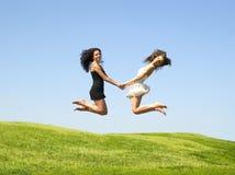 скача женщина 2 стоковое изображение