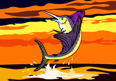 скача заход солнца sailfish бесплатная иллюстрация