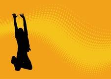 скача картина человека волнистая Стоковое Фото