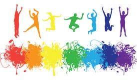 скача люди Стоковое Фото
