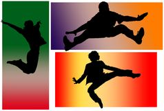 скача люди Стоковое Изображение