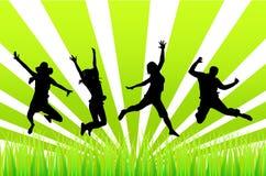скача люди Стоковая Фотография RF