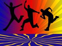 скача люди Стоковое Изображение RF