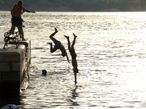 скача море Стоковое Изображение RF