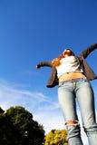 скача небо к Стоковое Изображение