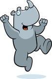 скача носорог Стоковые Фотографии RF
