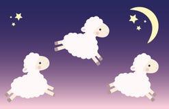 3 скача овечки Бесплатная Иллюстрация