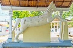 Скача лошадь виска Thaniwalla Devalaya Стоковые Изображения RF