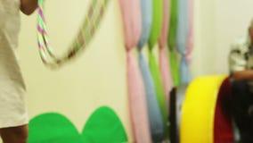 Скача собака цирка Стоковая Фотография