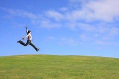 скача человек Стоковая Фотография