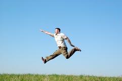 скача человек Стоковое фото RF