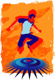 скача человек Стоковые Изображения RF