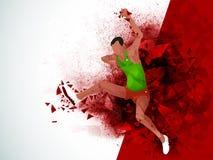 Скача человек для концепции спорт Стоковое фото RF