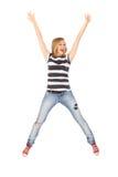 скача детеныши женщины Стоковое Фото