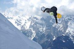 скача snowboarder Стоковое фото RF