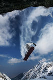 скача snowboarder Стоковые Фото