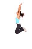 скача sportswoman Стоковые Изображения RF
