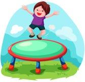 скача trampoline Стоковая Фотография