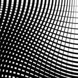 Скачками решетка, картина картины сетки геометрическая минимальная с искривлением Стоковая Фотография