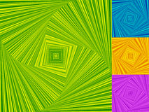 Скачками спирали сделанные квадратов Вращать, завихряться асимметричный Стоковые Изображения