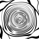 Скачками спиральная предпосылка в квадратном формате абстрактное геометрическое Стоковые Изображения RF