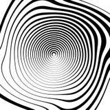 Скачками спиральная предпосылка в квадратном формате абстрактное геометрическое Стоковые Фото