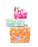 Скачками штабелированные коробки подарка Стоковые Фото