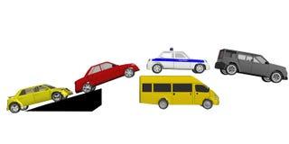 скачка автомобилей иллюстрация штока