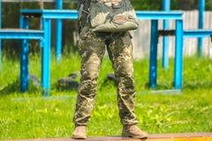 скачка тренировки парашютиста от парашюта Стоковое Фото