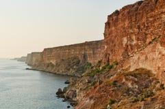 Скачком берег на Чёрном море, Крыме стоковое изображение