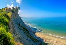 Скачком песочное побережье стоковые изображения rf